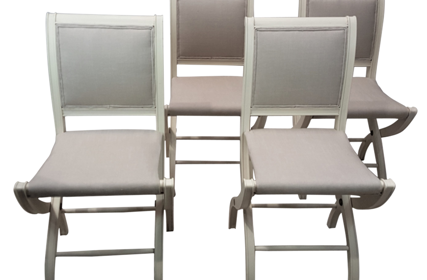 Set of Eight Folding Dining Chairs