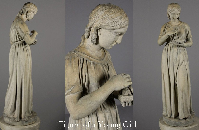 Triptych Figure of a Young Girl