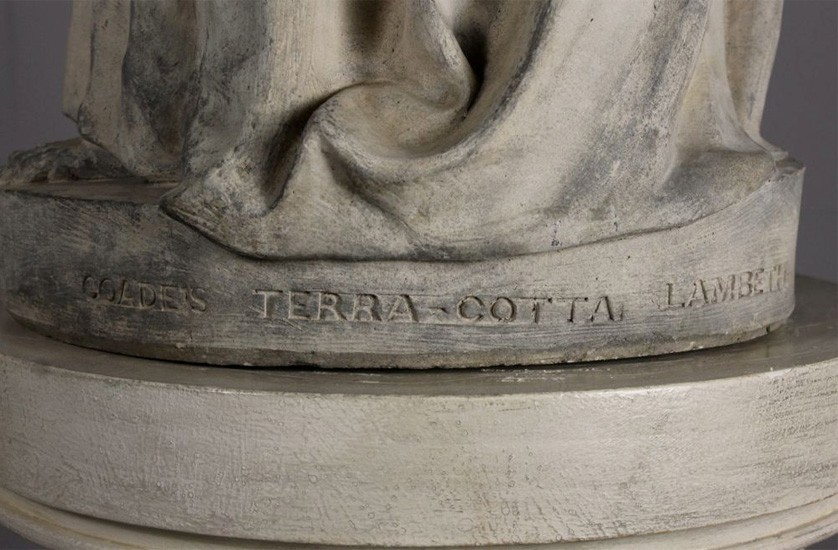 Stamp on Girl Coade's Terra-cotta Lambeth