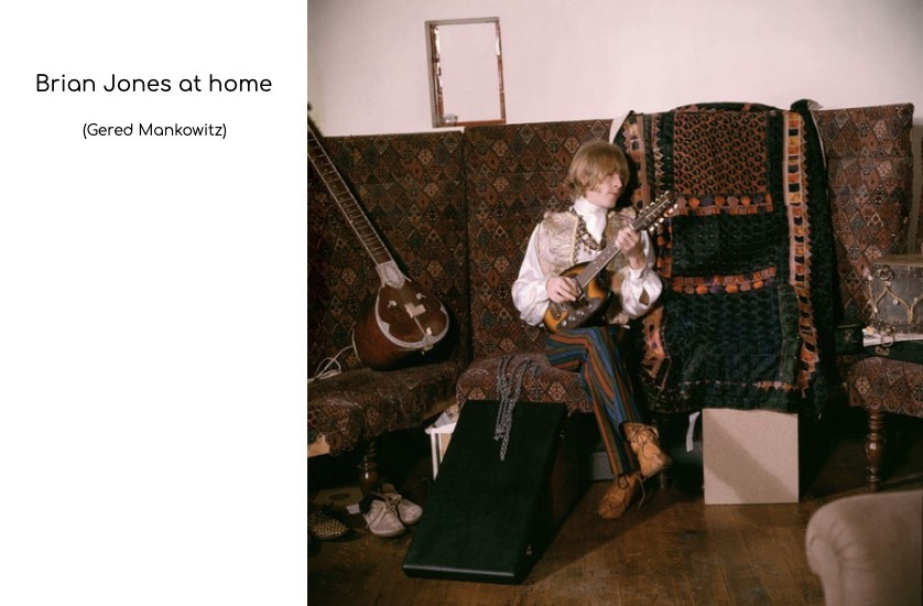 brian jones at home on settee