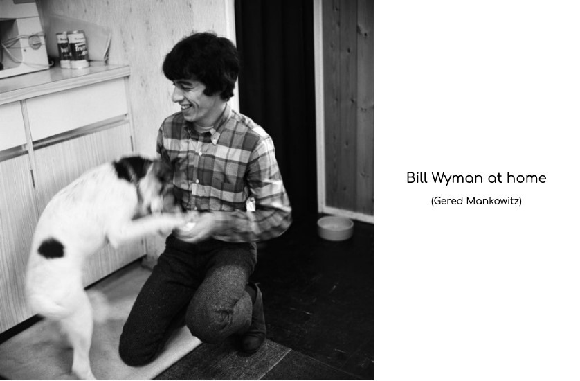 billy wyman at home with dog