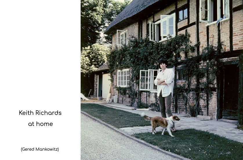 keith richards outside his home in sussex