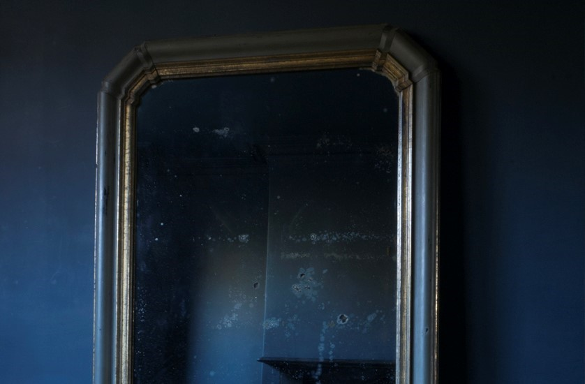 large french mirror original paint